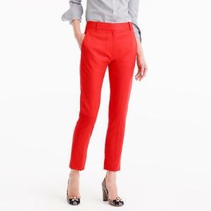 J Crew | Tollegno 1900 Red Chino Crop Ankle Pant